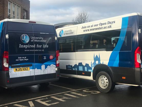 University of Worcester Mini Bus Fleet