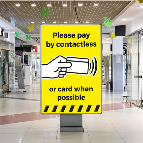 Please pay contactless poster