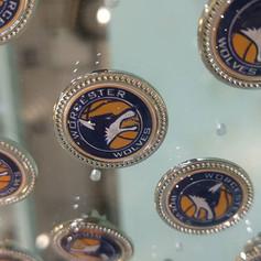 Sports team pin badges