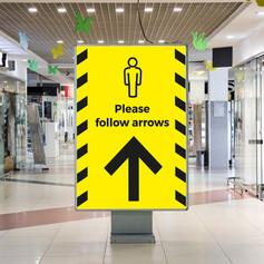 Follow the arrow Social Distancing poster