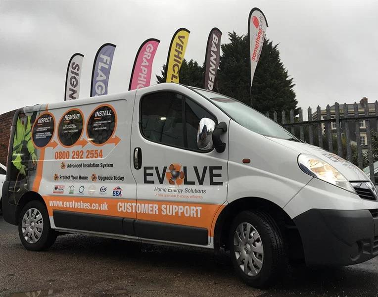 Part Wrapped Evolve Van