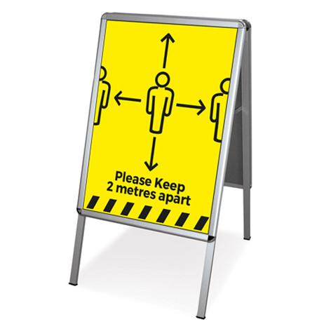 Social Distancing pavement sign