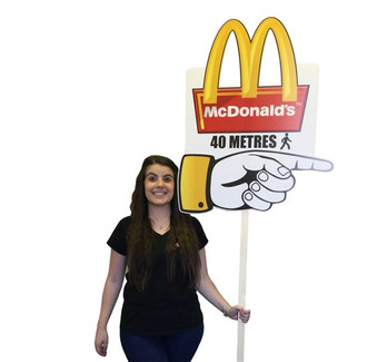 Fast food directional signage