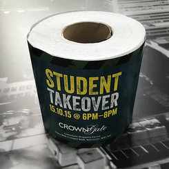 Promotional wrapped toilet roll