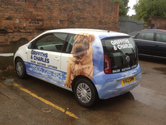 Part Wrapped Car for Griffiths and Charles