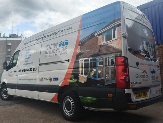 Part Wrapped Central Roofline Systems Van
