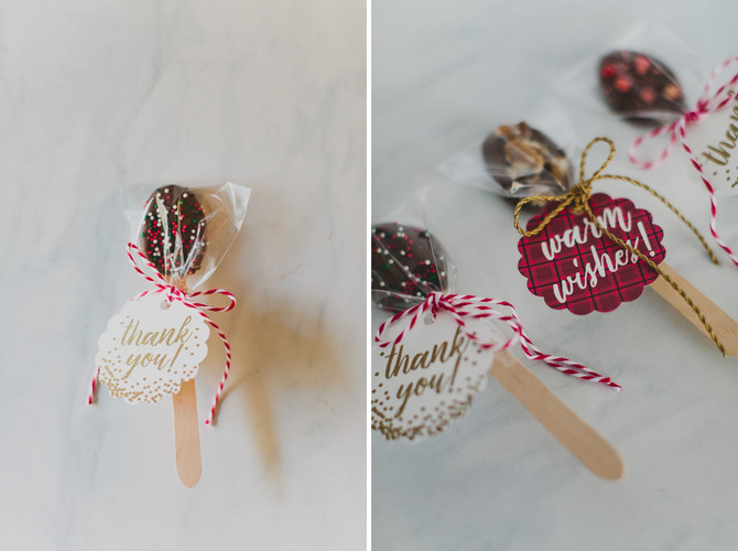 DIY Hot Chocolate Spoons for Favors