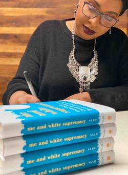 Layla Saad book signing