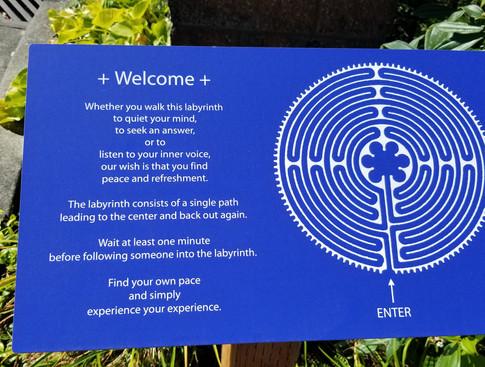 StJ Labyrinth Sign