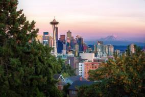View of downtown Seattle from Queen Anne neighborhood