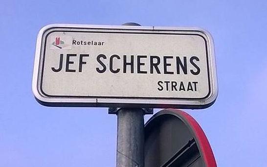 Straat vernoemd naar Poeske Scherens