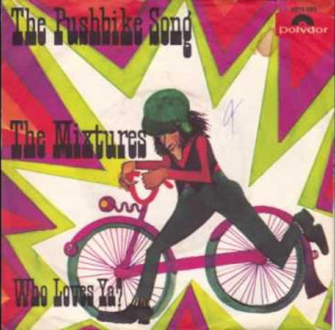 The pushbike song van The Mixtures