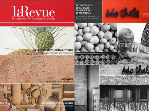 Pierre Bergé & Associés, Portrait et photographies de l'atelier d'Ado Chale pour la vente Arts Décoratifs et Design