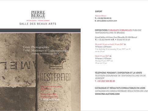 Pierre Bergé & Associés, Expertise & vente Photographies Modernes et Contemporaines à Paris, Bruxelles, Genève