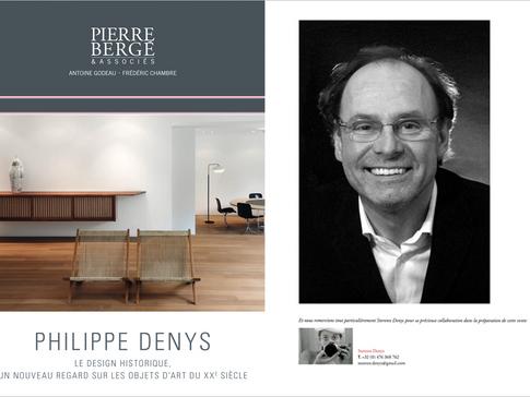 Pierre Bergé & Associés Philippe Denys - Le design historique, un nouveau regard sur les objets d'art du XXe siècle.