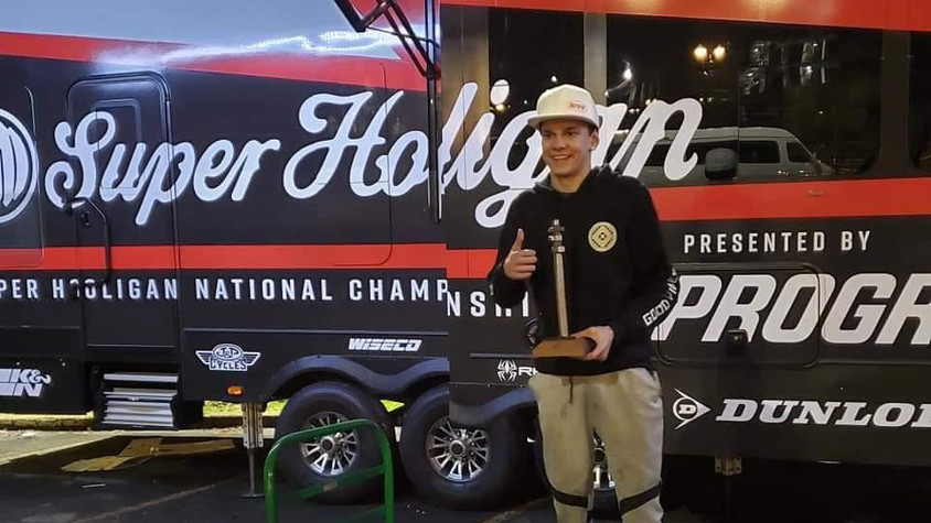 David takes 2nd in the mains at One Moto Show