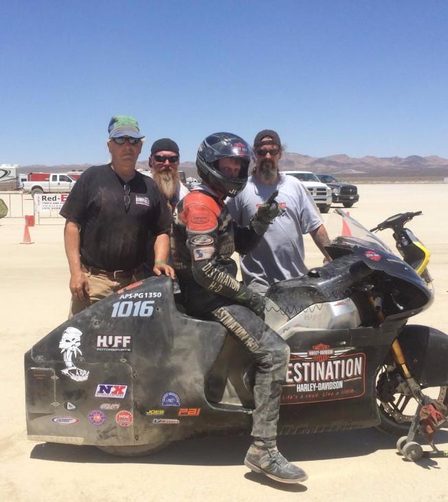 Steve Huff Motorsports El Mirage dry lake bed landspeed racing scta motorcycle harley racing buell xbrr