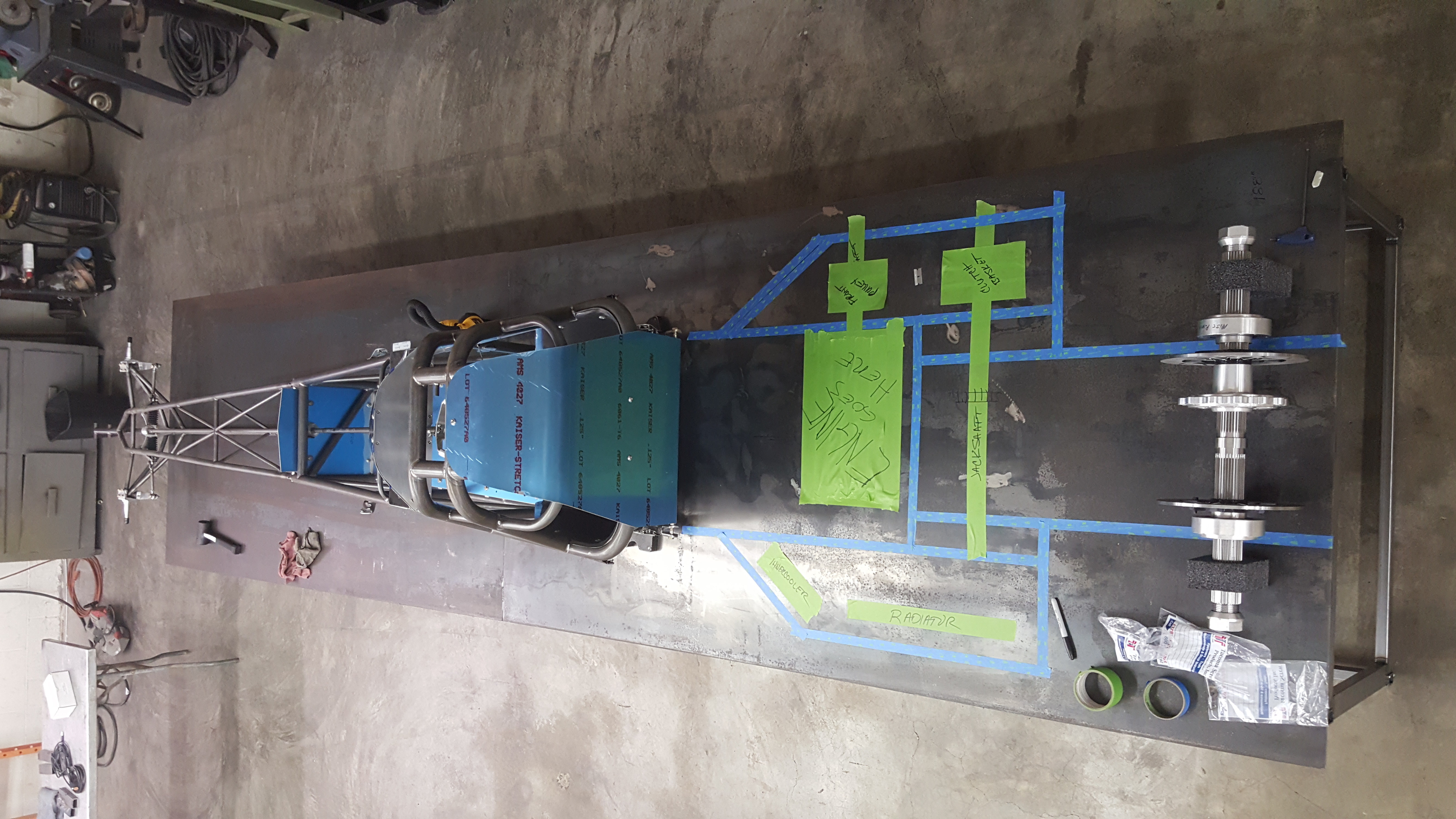 e-Spec Racecars Overheard View