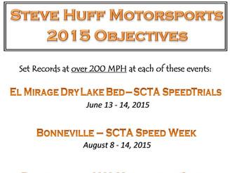 2015 Steve Huff Motorsports Objectives