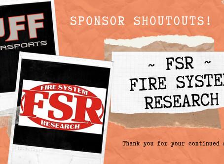 Sponsor ShoutOut - Fire System Research