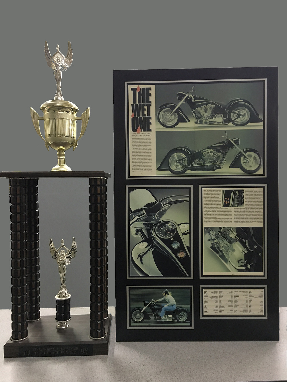 1998 Grand National Roadster Show winnter top custom street bike motorcycle trophy the wet one custom motorcycle