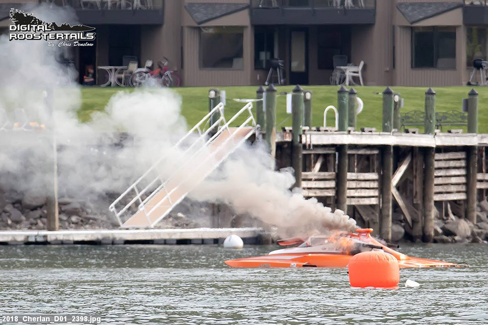 Agitator E98 on Fire at Lake Chelan