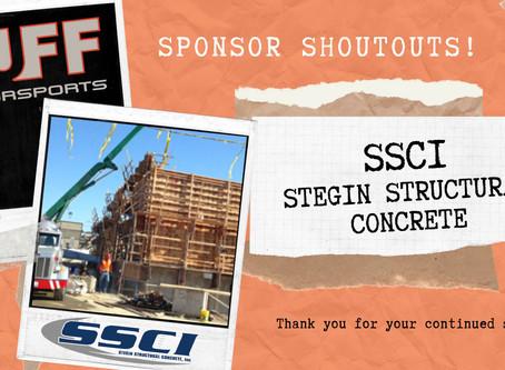 Sponsor ShoutOut - SSCI Stegin Structural Concrete