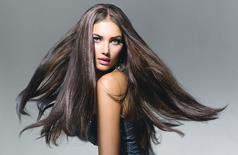 brown hair flowing