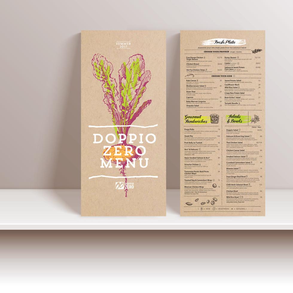 Doppio menu front & back