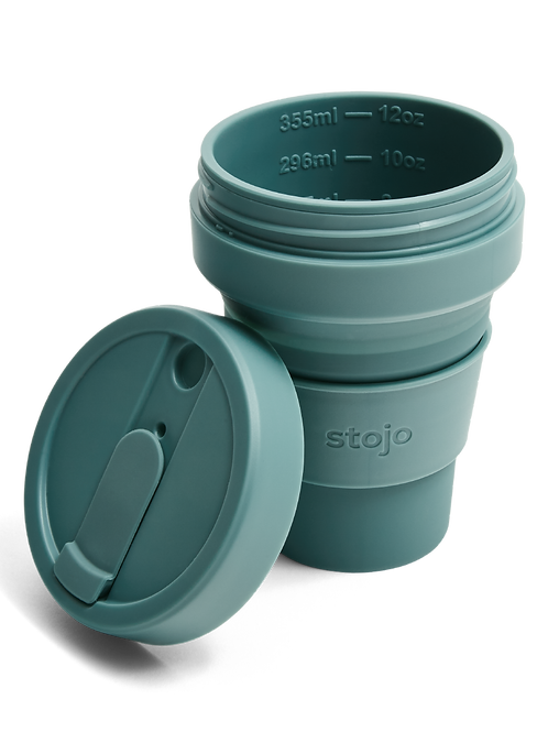 Stojo 12 oz Collapsible Coffee Mug - Eucalyptus