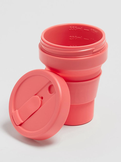 Stojo 12 oz Collapsible Coffee Mug - Coral