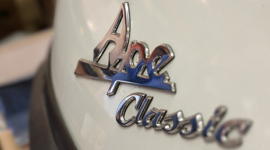 Ape Classic detail pictured on the front of the Piaggio Ape