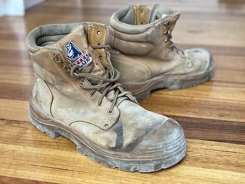 Landscaper boots - steel blue. 11.5