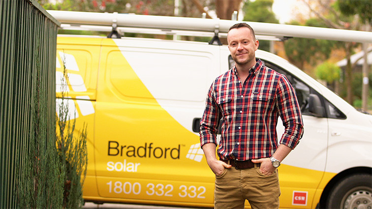 Walt Collins was the face of Bradford Solar TV campaign in 2015