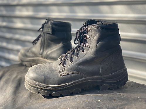 Steel Blue Black- builder's boot