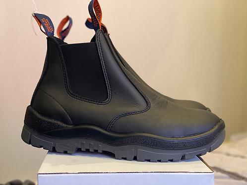 Mongrel Work Boot- Black Elastic Sidded
