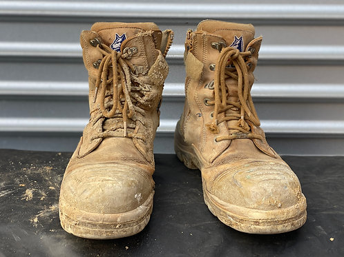 Steel Blue Carpenter's Boots