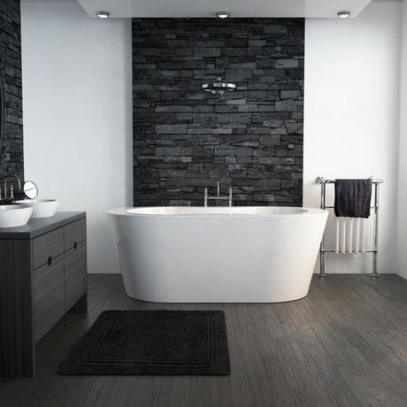 Inspírate en estos 9 baños con piedra natural