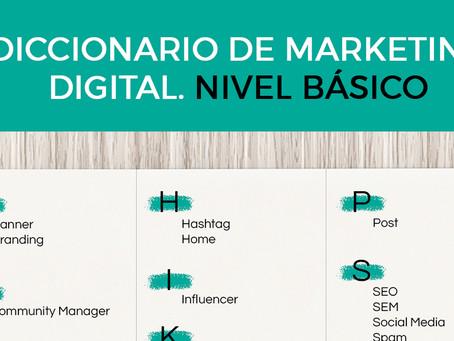 Infografía: Diccionario básico de marketing digital