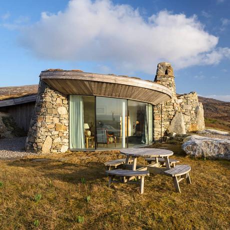 10 casas increíbles revestidas con piedra natural