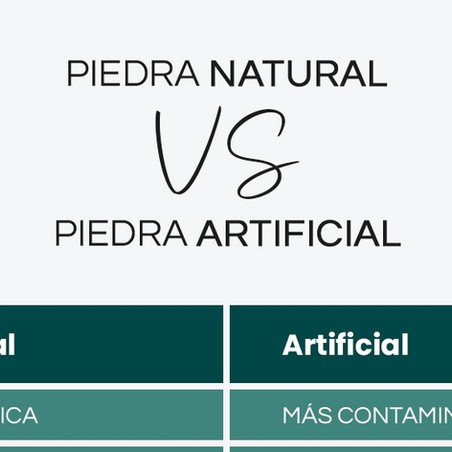 Piedra natural VS Piedra artificial