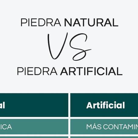 Piedra natural VS Piedra artificial