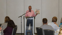 Lester Laminack at Authors Luncheon