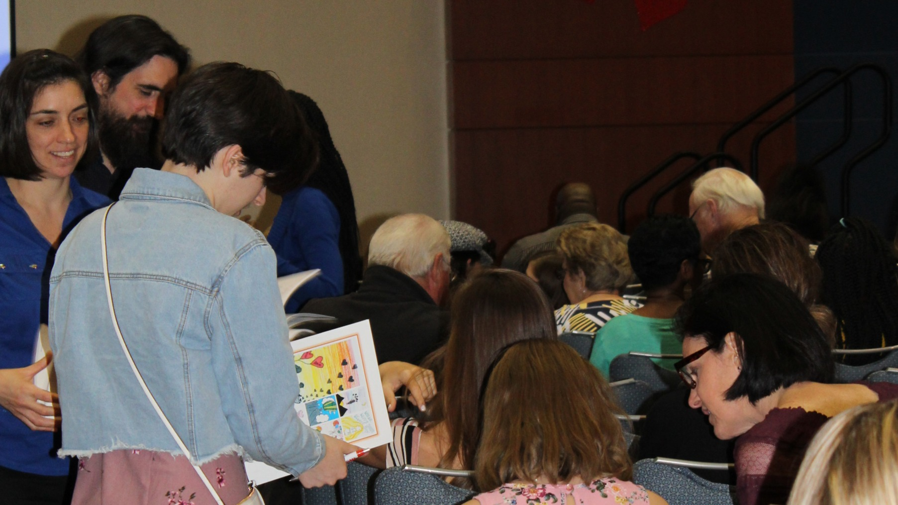 Young Authors autographing books