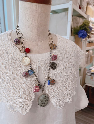 Cubic charms necklace