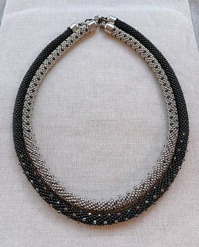 Tube crochet necklace <ODA 2101>