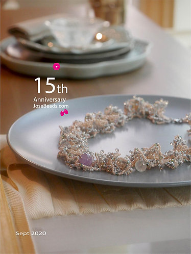 <Lace netting necklace> Stitch 2020_0902