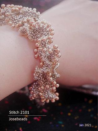 Silvery drop bracelet <Stitch 2101>