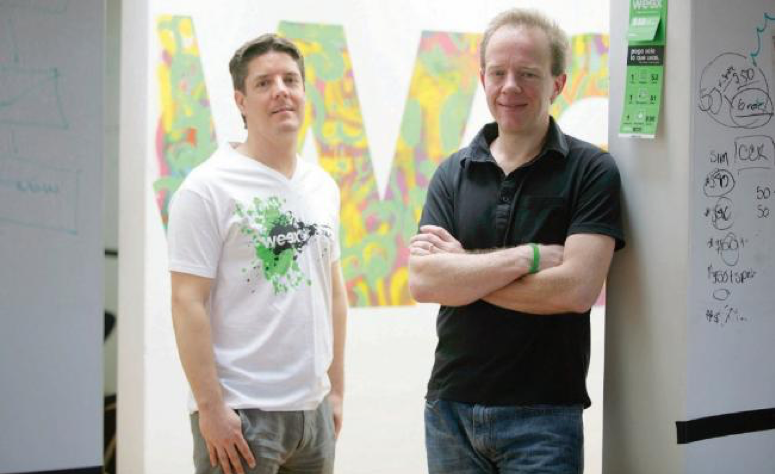 Left to right: John Cooper, Ricardo Suárez, Co-founders of Weex Mobile