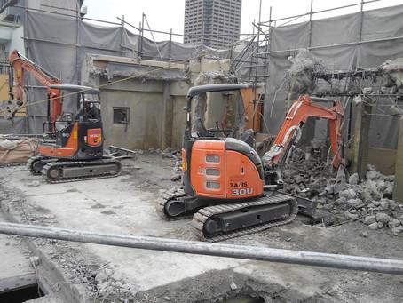 香里園RCマンション4階解体工事
